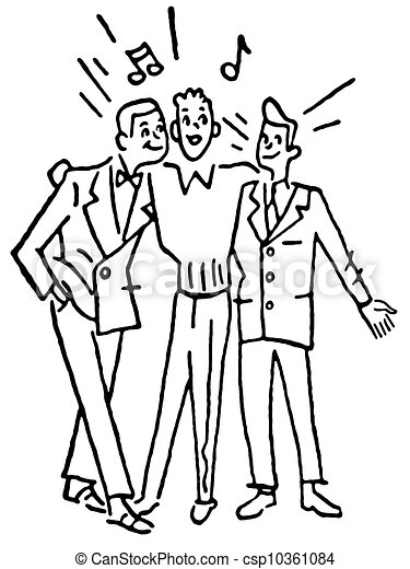 Stock Illustration of A black and white version of a group ...
