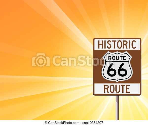 Historic Route 66 on Yellow - csp10364307