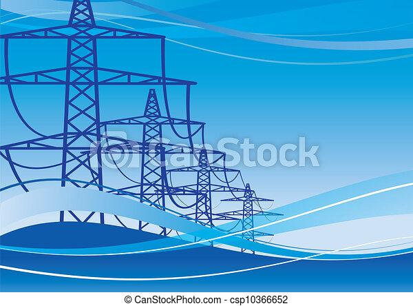 矢量-电, 高压线塔