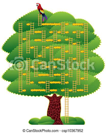 Green tree labyrinth - csp10367952