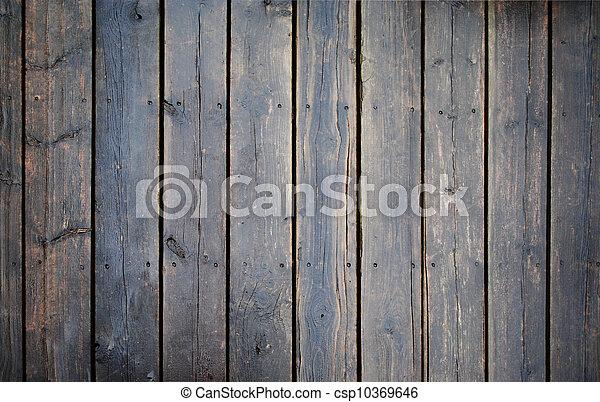 Old wet wood floor