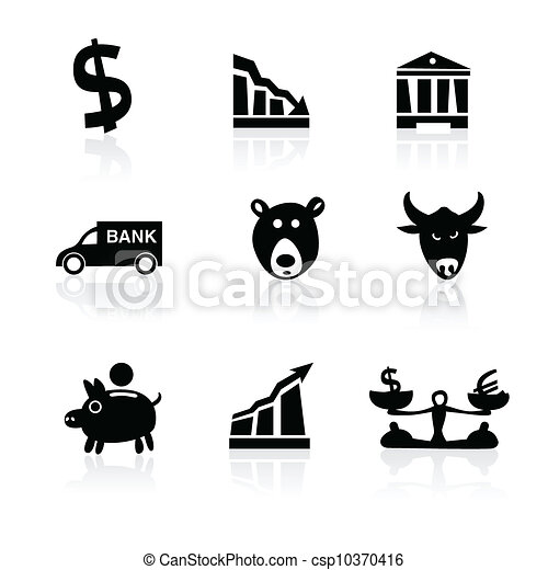 Banking icons hand drawn part 1 - csp10370416