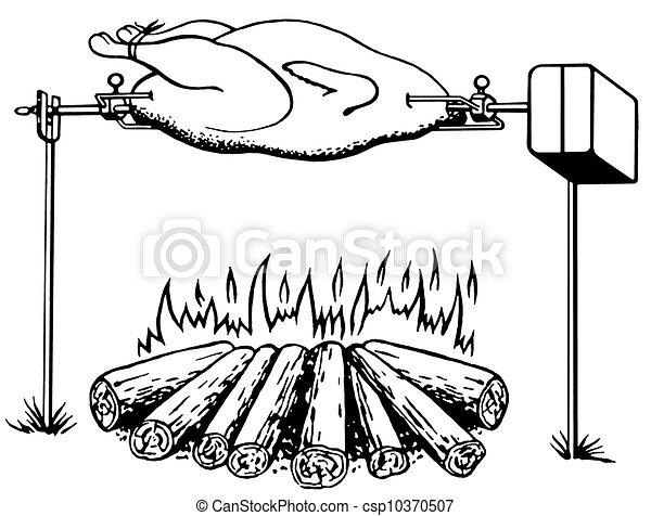 Dibujos de un pollo asado - Imagui