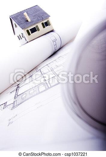 arkitektur,  plan - csp1037221