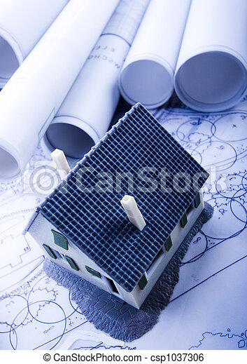 Architecture plan  & home - csp1037306