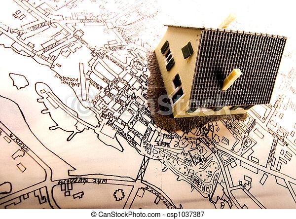 Architecture plan  & home - csp1037387