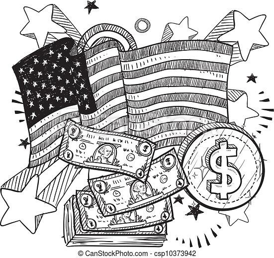 Free Money Drawings American Money Sketch
