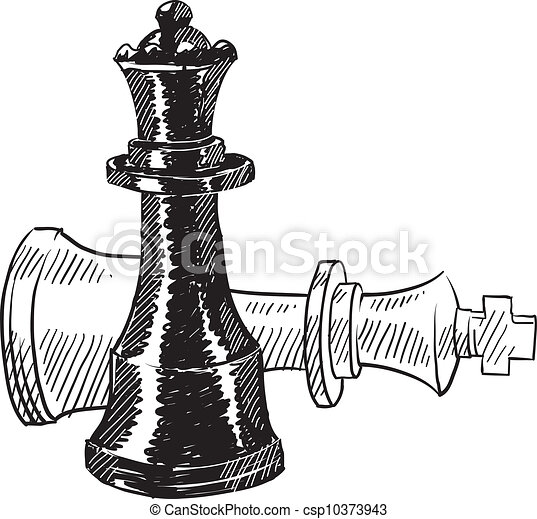 Chess pieces sketch - csp10373943