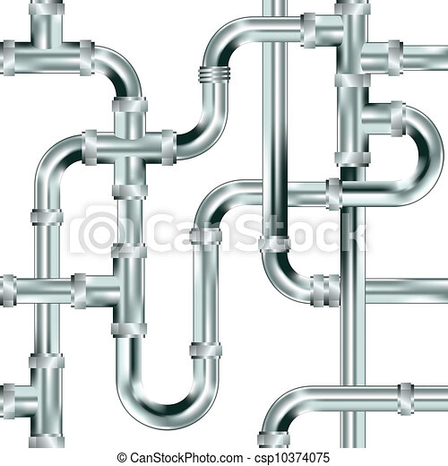 Vectors Illustration of Seamless plumbing background - Seamless water ...