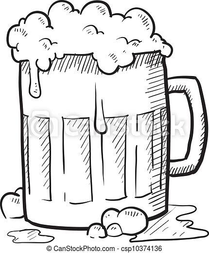 vektoren von bier  becher  skizze gekritzel  stil beer can clip art free beer can clip art free vector