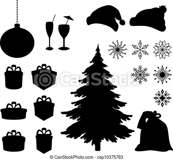 Christmas holiday objects - csp10375763