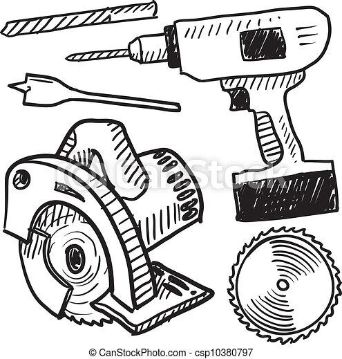 Power Tool Drawings Power Tools Sketch