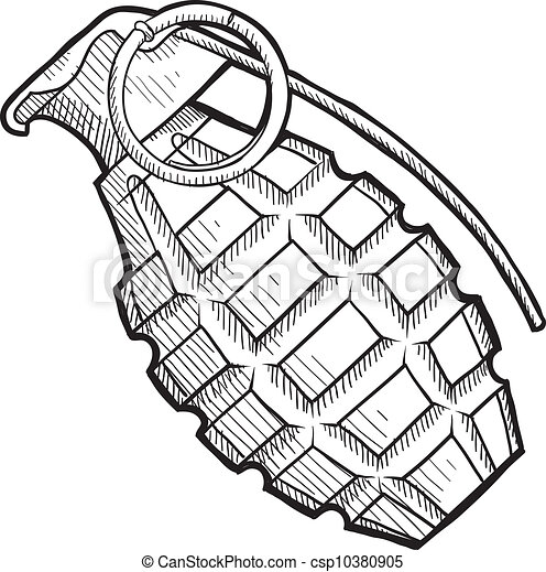 Skull Drawings Pictures in addition Clipart 4023 likewise Fairy Tattoo Outlines as well 85069 also How To Draw A World War 1 Tank. on simple grenade drawing