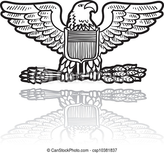 Military Ranking on Vectors Of Su Military Eagle Insignia   Doodle Style Military Rank