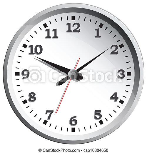 Clipart Vector of Wall clock. Vector illustration. - Wall ...