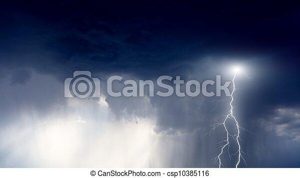 Stormy sky - csp10385116