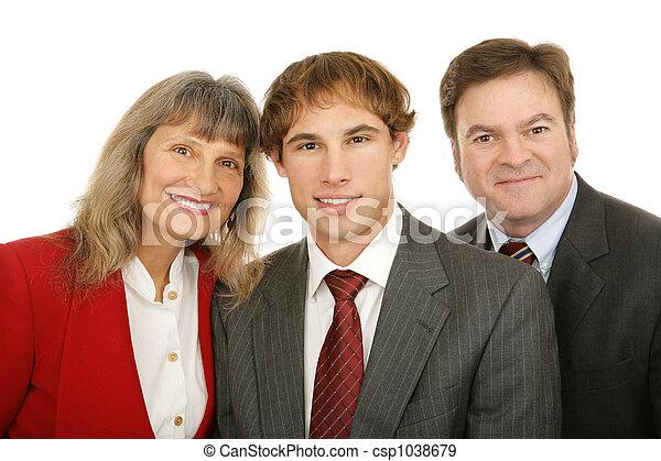 Three Business People - csp1038679