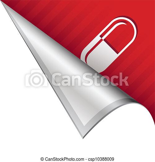 Pharmaceutical pill corner tab - csp10388009