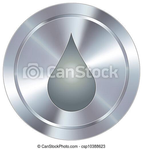 Liquid drop on industrial button - csp10388623