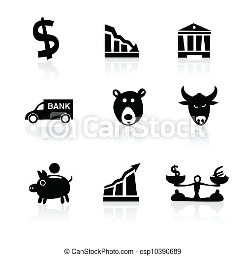 Banking icons hand drawn part 1 - csp10390689