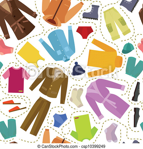 Eps vector of seamless clothes seamless mens clothing csp10399249 search clip art