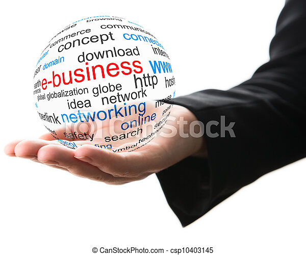 Concept of internet business - csp10403145