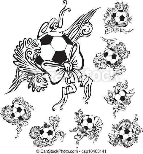 eps vector de embellishments futbol pelotas futbol