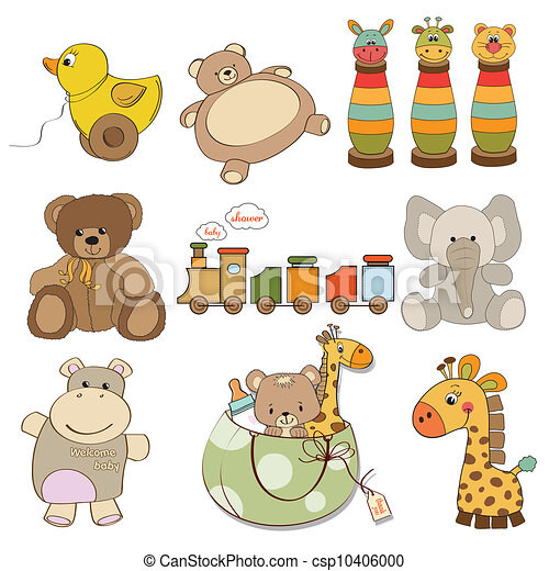 illustration of different toys item - csp10406000
