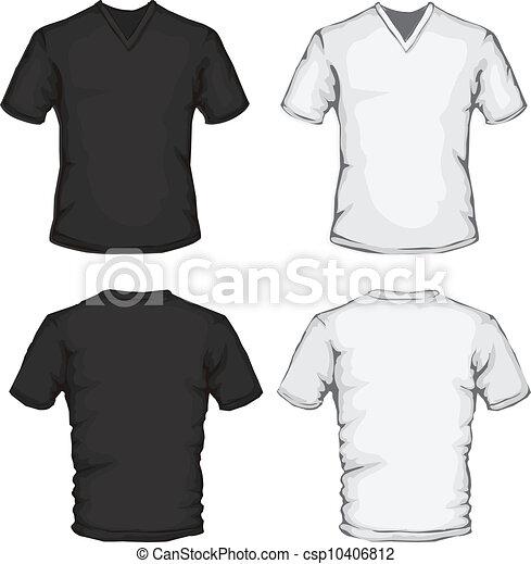 vector clip art de cuello v  camisa  plantilla csp10406812 polo shirt clip art vector polo shirt vector free