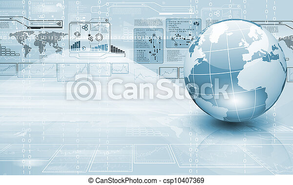 Technology and the world - csp10407369