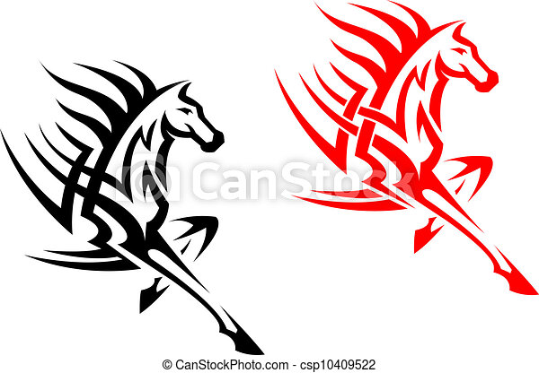 Tribal Mustang Tattoo Tribal Mustang Stallion