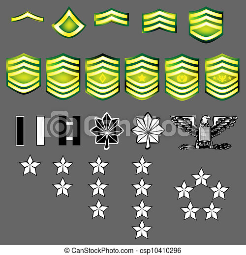 Clipart Vector of US Army military insignia - Doodle style ...