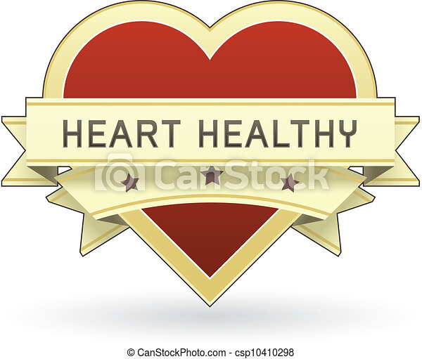 Heart healthy food label - csp10410298