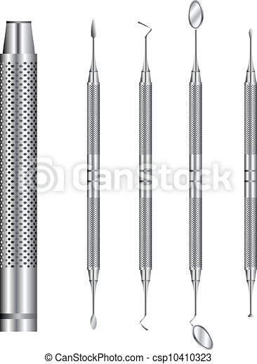 Dental tools vector illustration - csp10410323