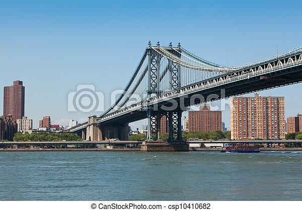 Manhattan bridge in  New York City - csp10410682