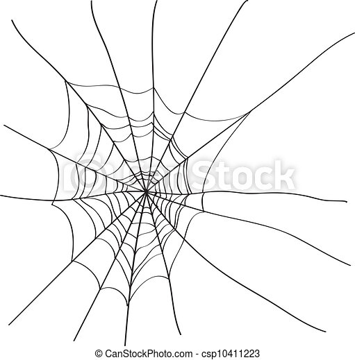 Web Spider Tool Spider Web Isolated on White