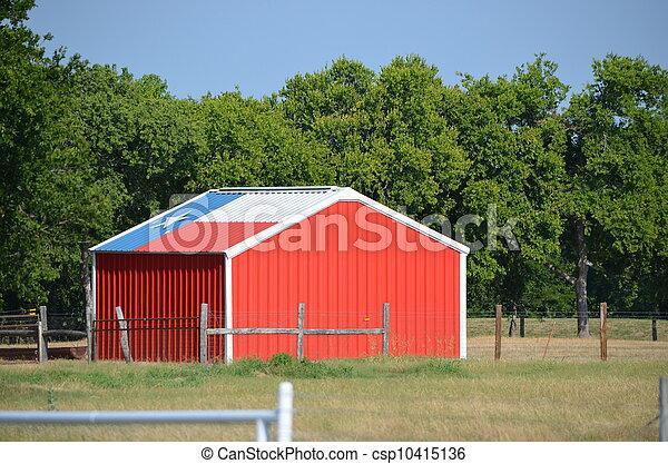 Fahne, Schuppen,  Texas - csp10415136