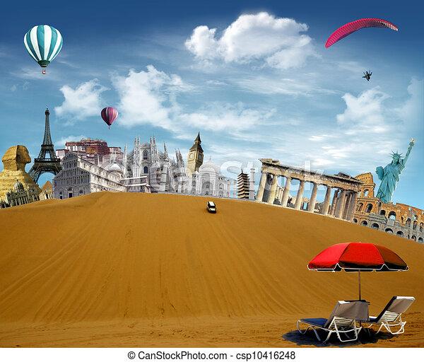 World landmarks in the desert - csp10416248