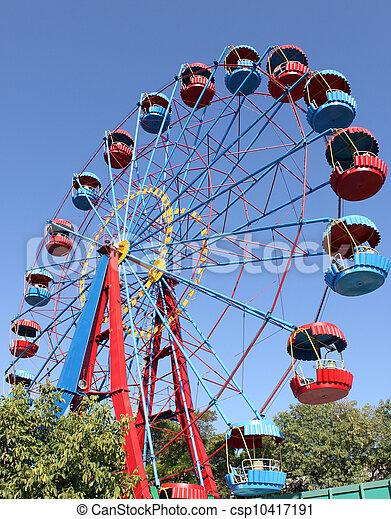 ferris wheel in park - csp10417191