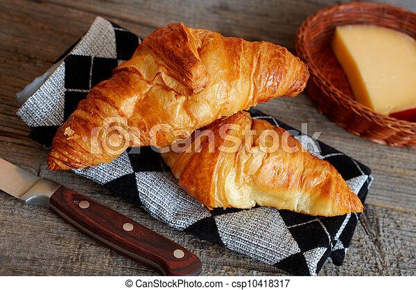 French croissants Crescents - csp10418317