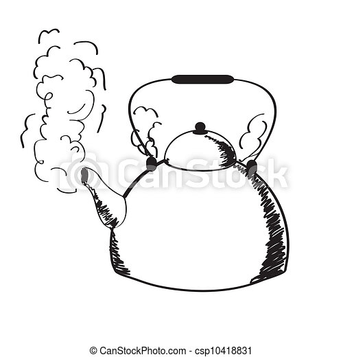 Kettle Steam Clipart a boiling kettle and steam