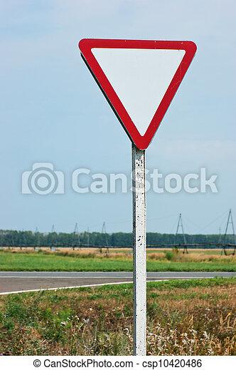 give way road sign - csp10420486