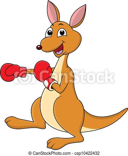 Vectors Of Funny Boxing Kangaroo Cartoon Csp10422432