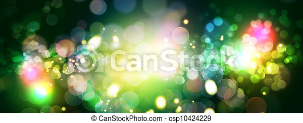 Abstract celebration backgrounds with beauty bokeh - csp10424229
