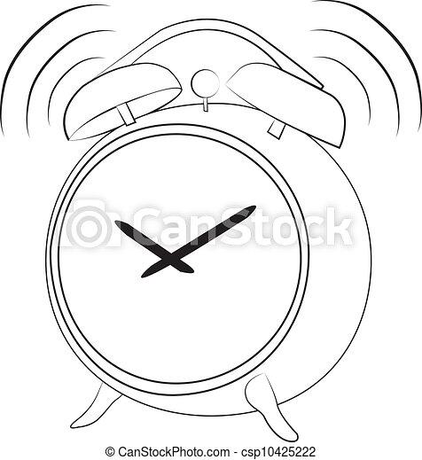 Illustration vecteur de rigolote reveil horloge sonner - Dessin reveil ...