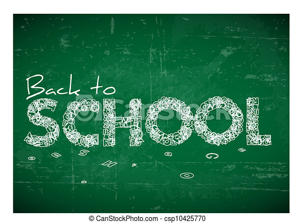 Back to school vector illustration - csp10425770