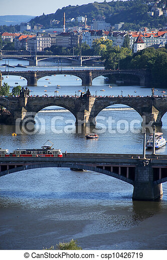 Prague Bridges - csp10426719