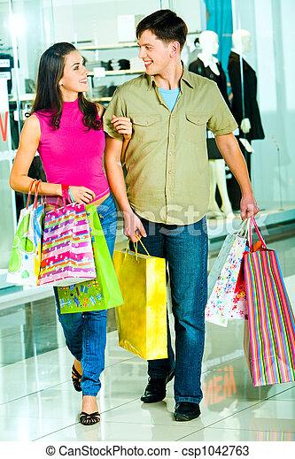 shoppen, zusammen - csp1042763