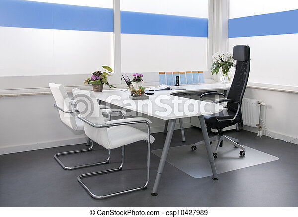clean white office - csp10427989