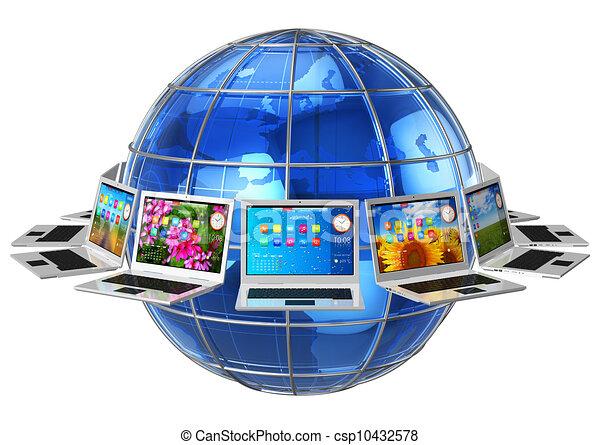 Global computer communication concept - csp10432578